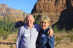 Publican of the Prince Alfred Hotel in Booval Clive Johnson and his wife Maryanne found time to visit the Grand Canyon when they weren't at the Global Gaming Expo.